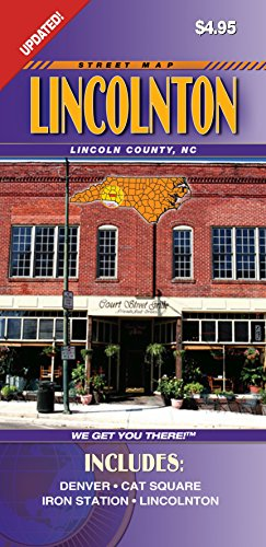 Lincoln County NC Fold Map - Map Lincoln Road