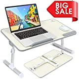 VANKYO Foldable Laptop Standing Desk, Portable Laptop Table - Height and Angle Adjustable
