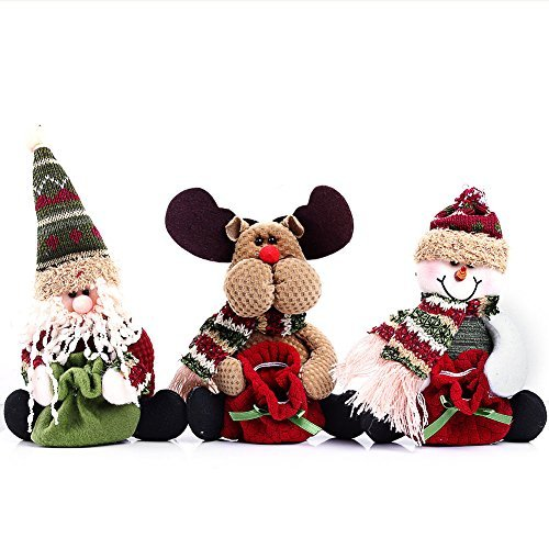 CYNDIE Hot Sale New Christmas Cute Funny Stocking Decorating Reindeer Snowman Santa Claus Candy Bag Best Price Gift Reindeer