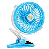 Battery Operated Fan Personal Fan Clip On Fan Car Baby Stroller Traveling Hiking Fishing Camping
