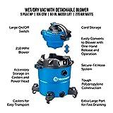 Vacmaster VBV1210, 12-Gallon 5 Peak HP Wet/Dry Shop