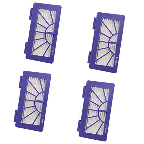 I-clean 4 Pack Replacement for Neato Filter XV-21 XV Signature, XV Signature Pro XV-11 XV-12, XV-15 Neato Robotic Pet & Allergy Filter Part#945-0048