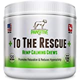 +To The Rescue+ Best Calming Treats for Dogs Anxiety, Stress Relief for Separation Anxiety, Motion Sickness, Storms, Dog Calming Treats with Organic Hemp Oil, 120 Hemp infused Soft Chews
