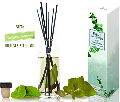 Urban Naturals Stress Relief Eucalyptus Spearmint Reed Diffuser Oil Refill | Fill Your own DIY Diffuser Bottle! Includes Replacement Reed Sticks by Urban Naturals (Image #4)
