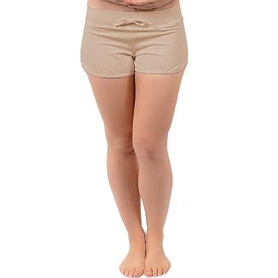 Stretch Is Comfort Women's Beachwear Athletic Cotton Shorty Shorts   Amazon.com