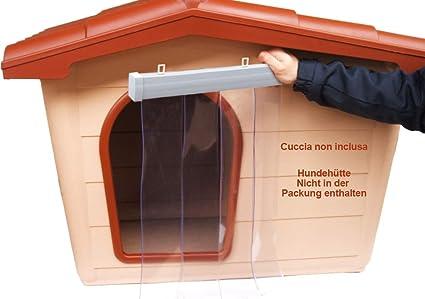 Panel antifrío para caseta de PVC transparente , anti lluvia, viento e insectos. Barrera