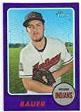 2017 Topps Heritage High Number Chrome Purple Refractor #THC-715 Trevor Bauer Indians