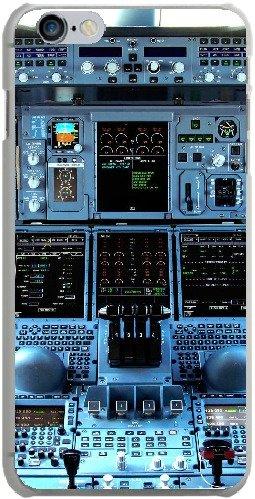 Apple iPhone 6s Plus Handyhülle - Cockpit Airbus A380 - Smartphone Case mit Kunstdruck hochwertiges Handycover kreatives Design Cover aus hartem Kunststoff