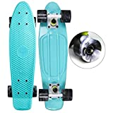 """Abec 7 High speed precision stainless steel bearings. Durable plastic skate board is great for cruising. Dimensions: 22"""" x 6"""". No assembly required Brand New Complete board"""