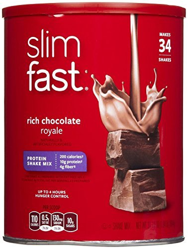 Slim Fast Rich Chocolate Royale Shake Mix Powder, 31.18 ounces - Pack of 2