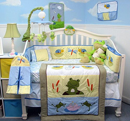SOHO Leap Froggies Baby Nursery Infant Crib Nursery Beddi...