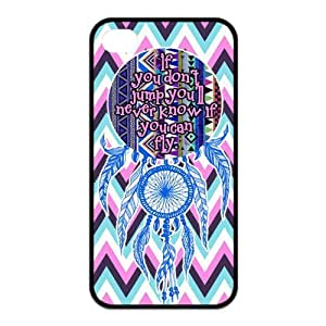 Chevron Aztec Tribal Dream Catcher Inspirational Quote Protective Rubber Back Fits Cover Case for iPhone 5s