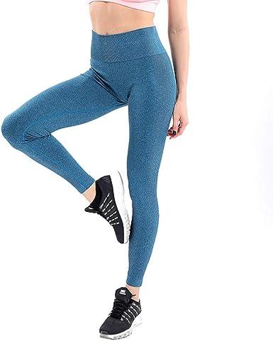Leggings De Cintura Alta para Mujer Pantalones De Yoga Fitness ...