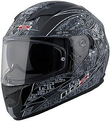 3b897c9a9e6 Amazon.com: LS2 Stream Anti-Hero Full Face Motorcycle Helmet with Sunshield  (Black/Gray, Large): Automotive