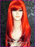 Forevr Young Extra Long Faceframe Page Style Ladies Fashion Wig Flaming red by Forever Young Bild