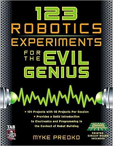 Download E Books 123 Robotics Experiments For The Evil Genius Tab