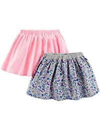 Baby Girls' Toddler 2-Pack Knit Scooters (Skirt with Built-in Shorts)