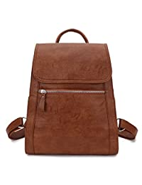 Backpack Purse for Women, Fashion Faux Leather Girls Flap Backpack VONXURY