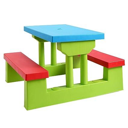 Wondrous Amazon Com Beuniquetoday Kids Picnic Folding Table And Creativecarmelina Interior Chair Design Creativecarmelinacom