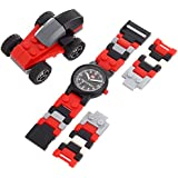 LEGO Kids' 4271021 Racers Plastic Watch with Link Bracelet and Racecar