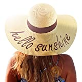 Jane Shine Hello Sunshine Beach Hat UPF 50+ Womens Summer Travel Bikini Accessory