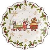 Villeroy & Boch Annual Christmas Edition 2017 Piatto Colazione, Porcellana, Bianco, 24x24x0.1 cm