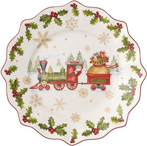 Villeroy & Boch Annual Christmas Edition 2017 Piatto Colazione, Porcellana, Bianco, 24x24x0.1 cm 1486262640