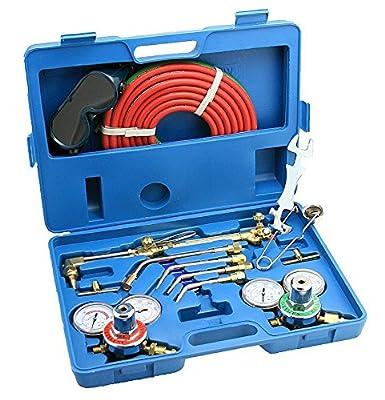 ARKSEN Oxy Acetylene Welding Cutting Torch Kit Victor Compatible w/ Case