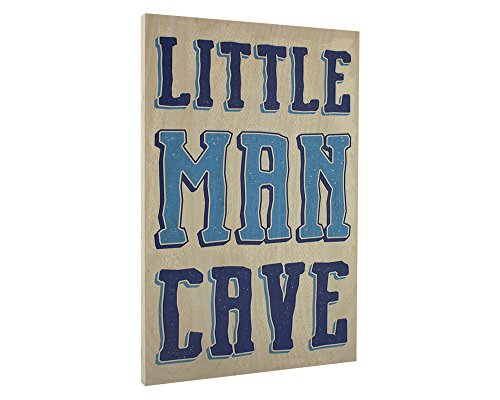 Elegant Signs Toddler Boys Room Wall Decor Art for Kids Bedroom - Lil Man Cave Wood (Boys Room Wall Decor)