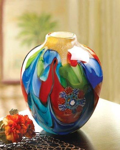 Home Vase Glowing Color Blue Floral Filler Tabletop Art Unique Flower Centerpiece Decorative - In Roseville Galleria