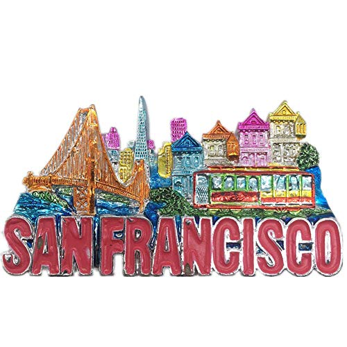 San Francisco America USA Fridge Magnet 3D Resin