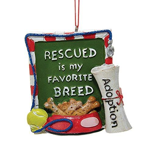 Kurt Adler Rescued is my Favorite Breed Pet Adoption Christmas Ornament