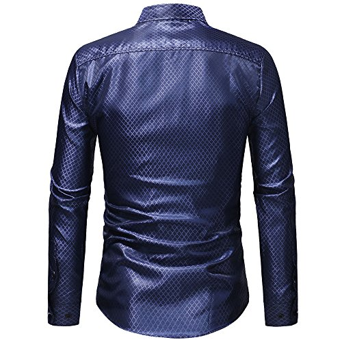 Top Shirt Clearance Men's Sale Plaid Print Blouse T Casual Classic PASATO Blue Sleeved Button Long Pullover gvqwP4xnO