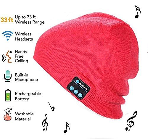 HMILYDYK Unisex Bluetooth Beanie Winter Warm Knit Hat V4.1 Wireless Musical Headphones Earphones w/ Speakers Fully Washable Cap Delightful Christmas Gift for Men Women Teen Boys Girls (Men Christmas Teenagers)