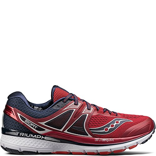 Saucony Men's Triumph ISO 3 Running Shoe, Red Navy, 15 M US by Saucony