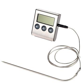 funnytoday Rushed termómetro digital para horno Display Lcd Digital sonda termómetro de cocina temporizador cocina cocina