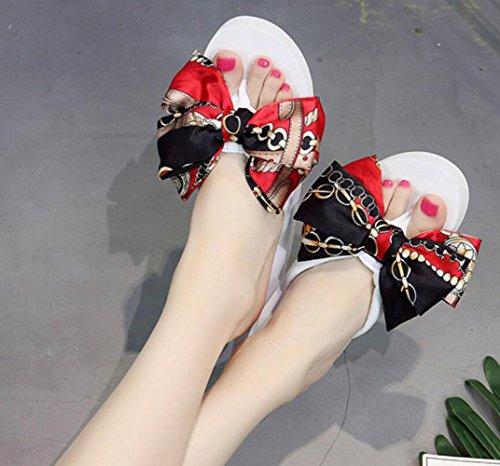 Sandales White Et Nouveau 5 Sandales CHENGXIAOXUAN éponge Tongs Hauteur 5 Fond Antidérapantes Cm Plat à Avec Talons Pantoufles Femme épais Style Chaussures D'été Bd4qn5