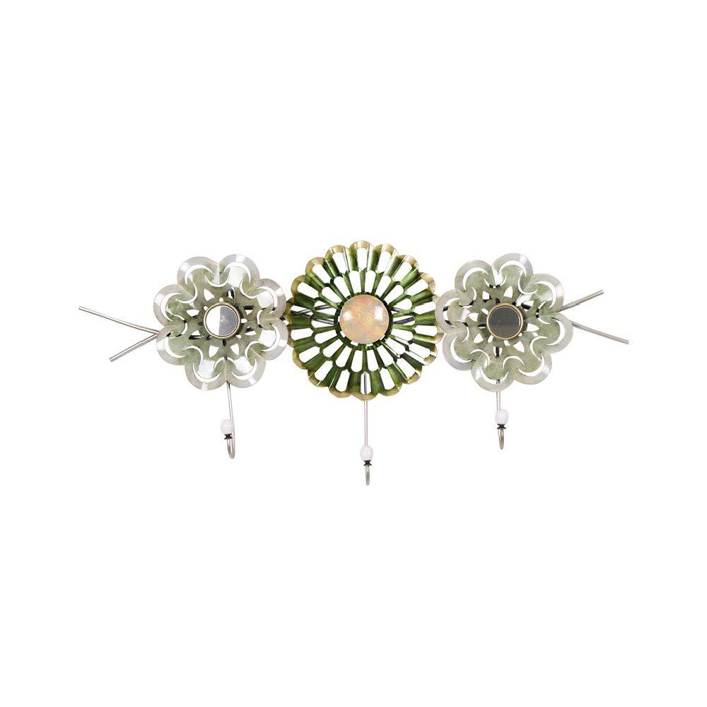 クリエイティブ錬鉄製の花の装飾フック三次元形状コートフックパーソナライズ服フック、87センチ×39センチ B07SLYPT4Q