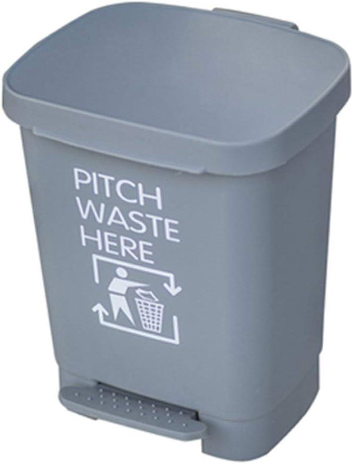 耐久のごみ箱のプラスチック不用な大箱の屋外のゴミ箱はオフィスの通りの食器棚の引出しの灰色の赤い緑15 * 14.6 * 18.9インチのためのふたが付いているごみ箱できます ゴミ箱 (Color : C2*1pc, Size : 40L)