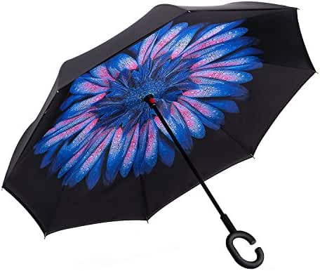 Elover 32in X 8 Panels Double Layer Inverted Umbrella