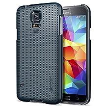 Galaxy S5 Case, Spigen® Samsung Galaxy S5 Case Slim [Ultra Fit] [Metal Slate] Premium Matte Hard Case for Galaxy S5 / Galaxy SV / Galaxy S V (2014) - ECO-Friendly Packaging - Metal Slate (SGP10834)