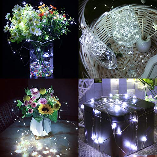 CREATIVE DESIGN Fairy Lights, 100 LED 33ft String Light USB Plug in Twinkle Lights with Adapter RF Remote Timer, 8 Modes Dimmable Decorative Lights for Party, Holiday, Christmas