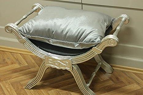 Barocco banchetto forbici di sedia stile antico vintage sgabello