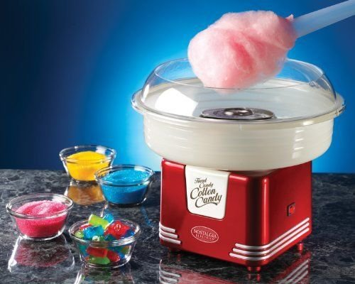 Nostalgia PCM405RETRORED Retro Series Hard & Sugar Free Candy Cotton Candy Maker ;JM#54574-4565467/341176770 by Nostalgia (Image #1)
