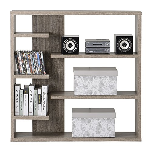 Homestar 6-Shelf Storage Bookcase in Reclaimed Wood by Home Star (Image #7)