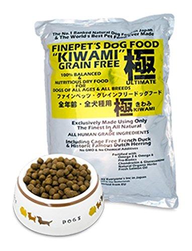 100% sans céréales, formule complète et équilibrée de nourriture sèche, pour chiens de toutes races et de tous âges. KIWAMI DE FINEPET'S 1,5KG