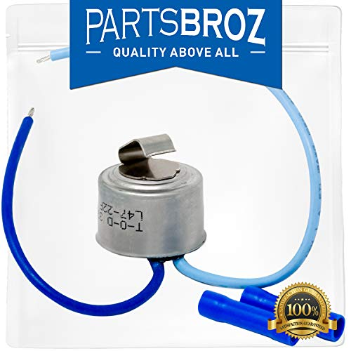 5303918202 Defrost Thermostat for Kenmore & Frigidaire Refrigerators by PartsBroz - Replaces Part Numbers AP2150133, 241619705, 833603, AH469510, EA469510, PS469510