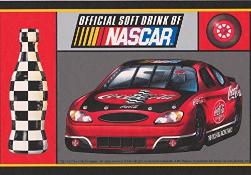 Coca Cola Official Sponsor of NASCAR Racing Cars Sports Wallpaper Border Retro Design, Roll 15' x ()