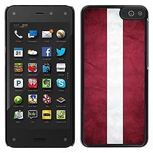 LECELL--Funda protectora / Cubierta / Piel For Amazon Fire Phone -- Nacional bandera de la nación País Letonia --
