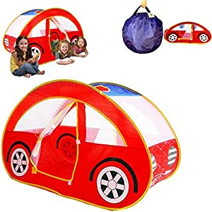 dazzling toys kids pop up car play tent easy pop up and twist fold to store compactly and neat 1 4 children fit inside at once